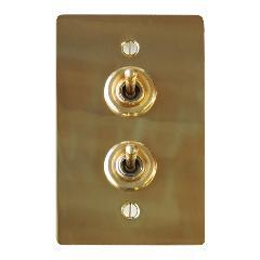 真鍮プレートスイッチ ダブル