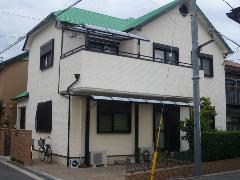 藤井寺市 K様邸 外壁・屋根ガイナ塗装工事施工例