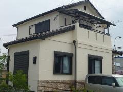 堺市西区山田 E様邸 外壁ガイナ塗装工事