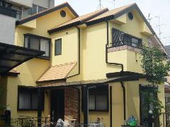 京都府長岡京市 K様邸 屋根・外壁ガイナ塗装工事施工例