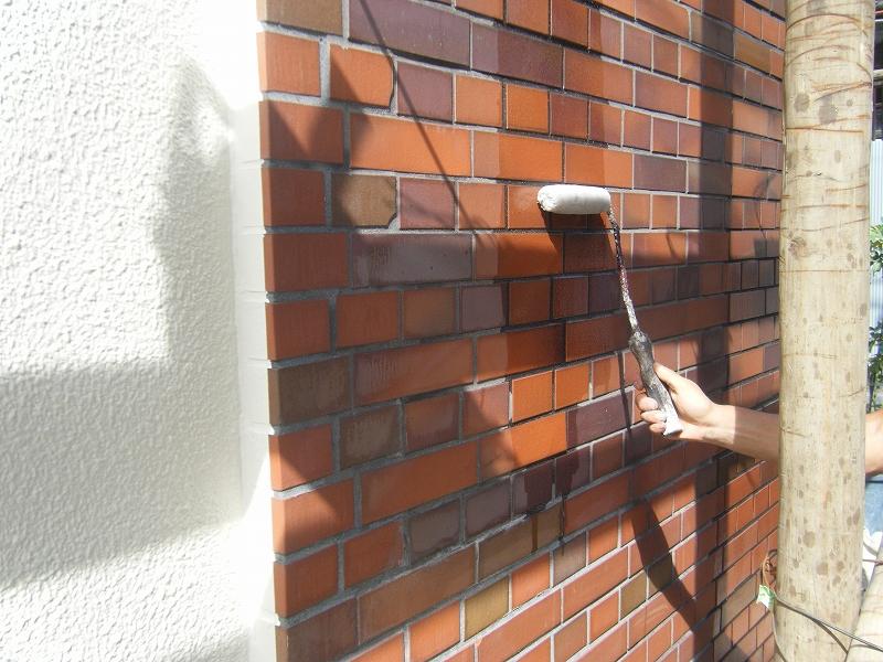 タイル壁撥水材施工 T邸