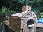 アンティークレンガのピザ窯