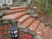 赤レンガの階段