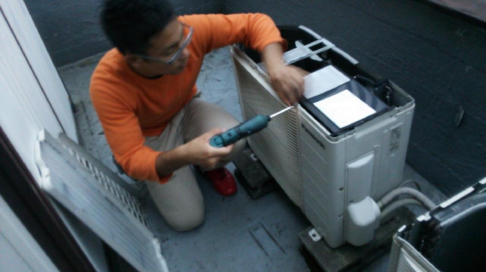 神戸市中央区 出版社でのエアコン・室外機クリーニング☆彡