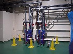 神奈川県茅ヶ崎市の半導体工場での熱交換器工事