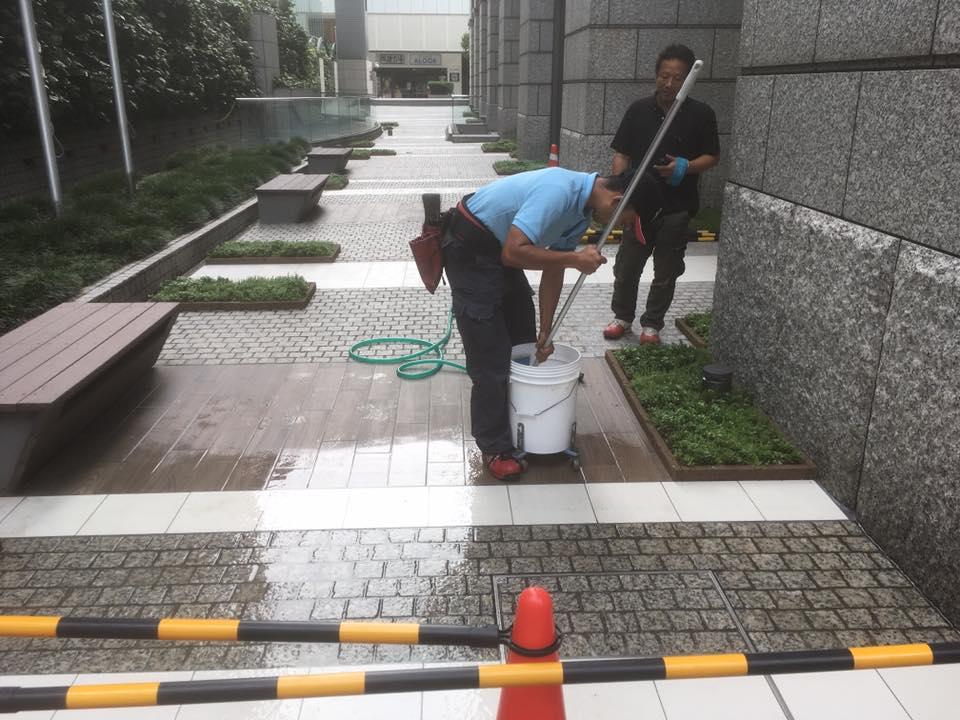 大阪市中央区 Gビル 防滑工事