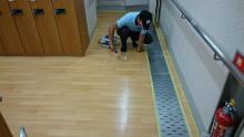 健康センター更衣室の滑り止め施工