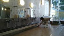 温泉施設のすべり止め施工