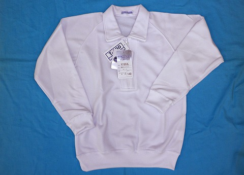 防泥体操服 長袖襟付きハーフジップシャツ 140、150cm