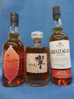 ジャパニーズウイスキー 赤ワイン樽熟成3種セット