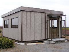 法人向けユニットハウス 2連棟平屋 事務所使用