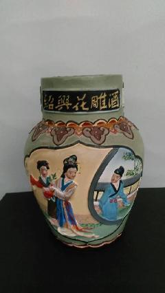 紹興酒〈塔碑〉 花彫壺  1000ml