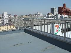 東京都 葛飾区 アルミ笠木手摺工事