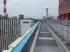 東京都銀座 屋上部 大型アルミ水切工事