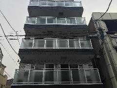 東京都 江東区 南砂 デザインマンション アルミ笠木手摺工事