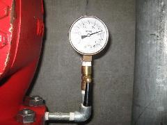 泡消火設備 圧力計交換