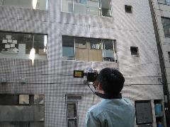 特殊建築物調査 赤外線サーモカメラ撮影