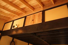 和室天井から商品棚天井