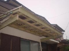 ガレージ屋根