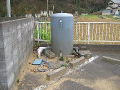 圧力タンク・除菌器取付工事