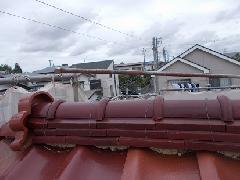 H30 千城台 屋根しっくい工事