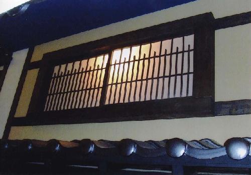 飲食店 ガラス窓の障子木枠(愛知県一宮市)検索(張替え)