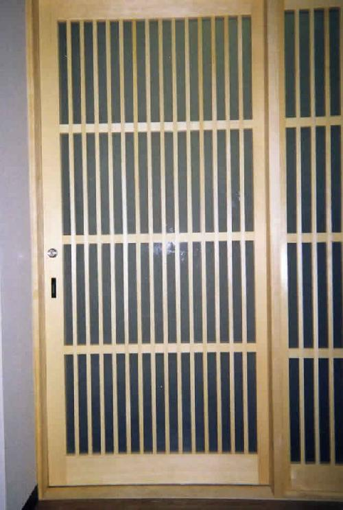 一般住宅 引き戸(愛知県稲沢市) 格子戸 鎌錠 玄関戸