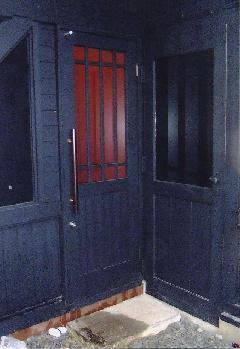 飲食店 ドア製作(愛知県一宮市) 店舗ドア白熊