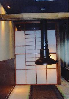 飲食店 障子(愛知県一宮市)上げ下げ障子(検索張替え。リフォーム)