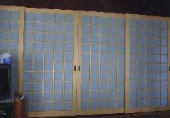 一般住宅 両面組子ガラス障子(愛知県江南市)紙ガラス、リフォーム