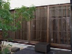 格子戸(愛知一宮)検索:木建具、扉,、組子、雨に強い木