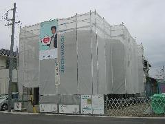 戸建住宅の仮設足場