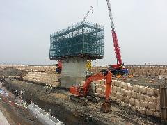 橋脚建設工事