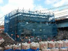 橋台建設工事