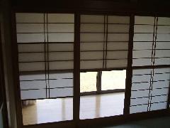 廊下〜和室間 雪見障子