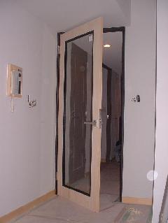 硝子入りドア 塗装前