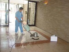 マンション床洗浄