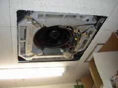 オフィス内空調のフィン洗浄