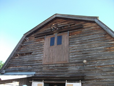 牛舎外壁〔施工前〕