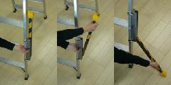 脚立用転倒防止装置 セーフティライダー