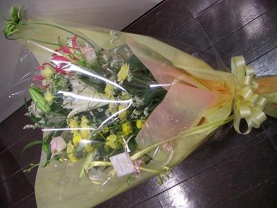 淡い系豪華花束