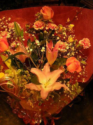 ピンク系豪華花束