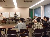 阪南市での講演の様子。