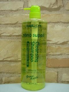 ナノ サプリ クレンジングシャンプー 『グリーンアップル』 1000ml