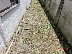 葛飾区 住宅地敷地内清掃