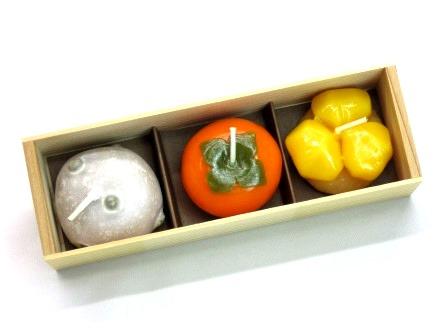 ★秋の和菓子キャンドル 故人の好物ローソク
