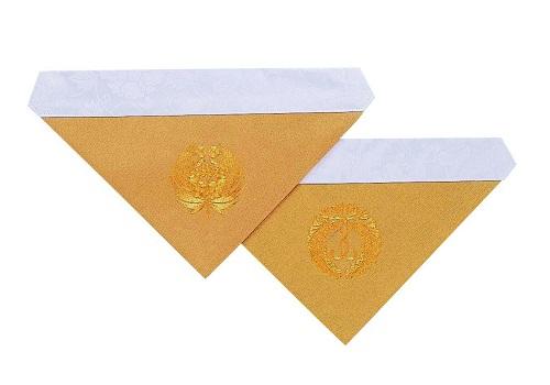 ◆三角打敷 綴駒 機械刺繍 70代 浄土真宗用