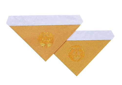 ◆三角打敷 綴駒 機械刺繍 150代 浄土真宗用