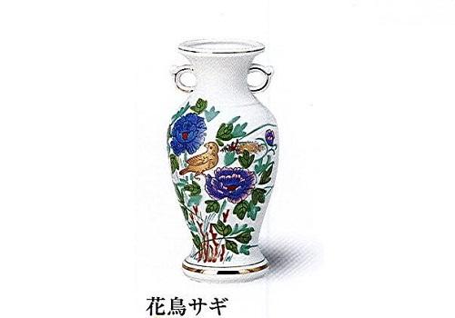 ◇花瓶・サギ型花立 花鳥サギ 8.0寸
