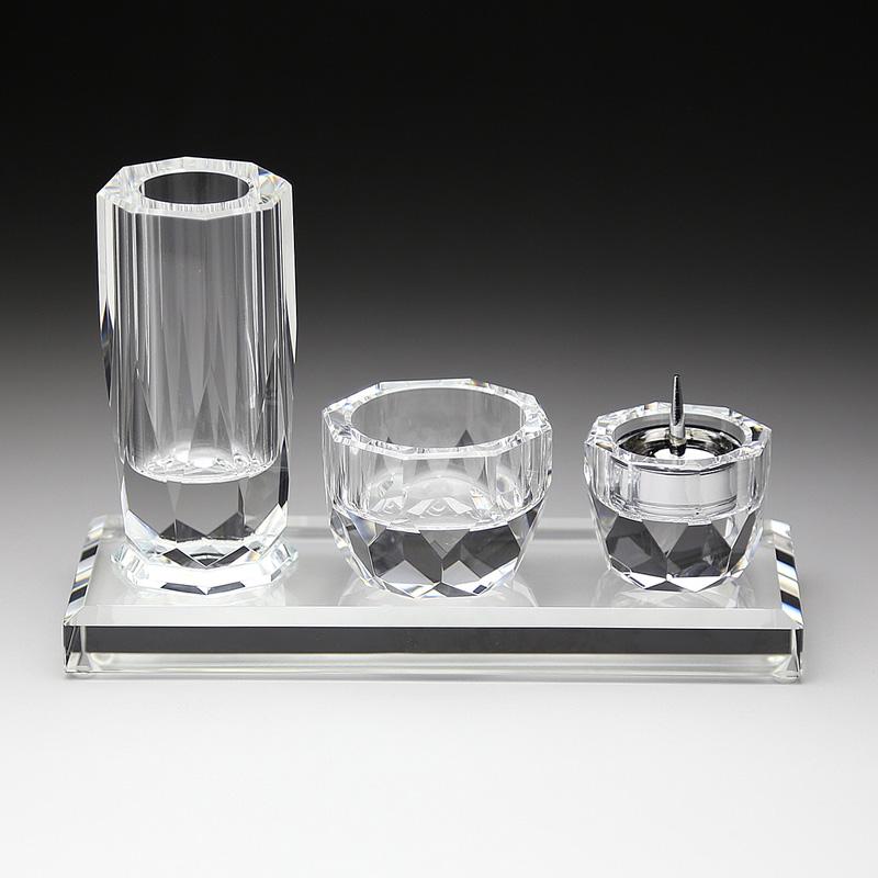 ■GH-4クリスタル具足 GH-4+7 花立・香炉・燭台・仏器膳